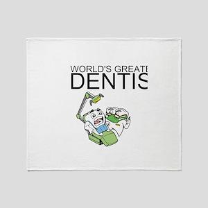 Worlds Greatest Dentist Throw Blanket