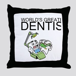 Worlds Greatest Dentist Throw Pillow