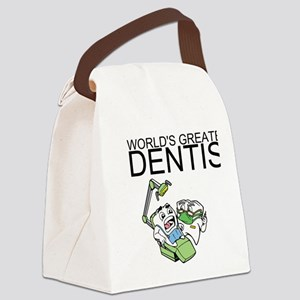 Worlds Greatest Dentist Canvas Lunch Bag