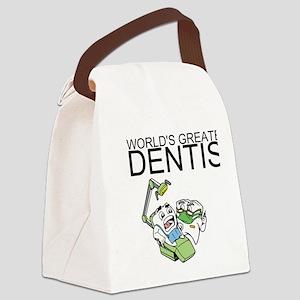 Worlds Greatest Dentist Canvas Lunch Bag