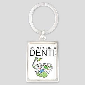 Worlds Greatest Dentist Portrait Keychain