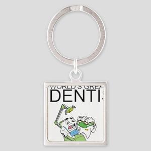 Worlds Greatest Dentist Square Keychain