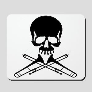 Skull with Trombones Mousepad