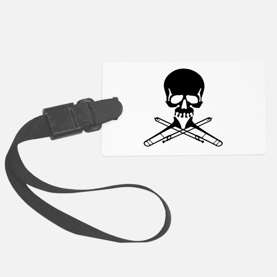 Skull with Trombones Luggage Tag