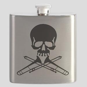 Skull with Trombones Flask
