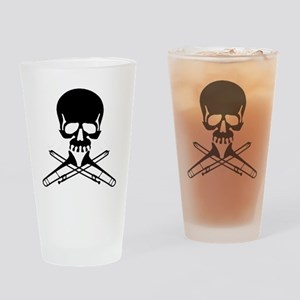 Skull with Trombones Drinking Glass