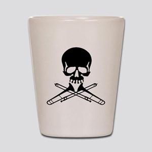 Skull with Trombones Shot Glass