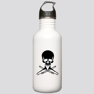 Skull with Trombones Water Bottle