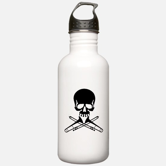 Skull with Trombones Water Bottle