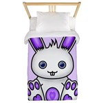Kawaii Purple Bunny Twin Duvet
