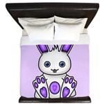 Kawaii Purple Bunny King Duvet