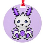 Kawaii Purple Bunny Ornament