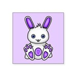 Kawaii Purple Bunny Sticker