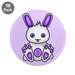 "Kawaii Purple Bunny 3.5"" Button (10 pack)"
