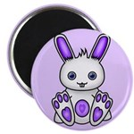 "Kawaii Purple Bunny 2.25"" Magnet (100 pack)"