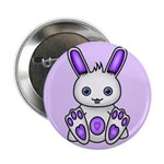 "Kawaii Purple Bunny 2.25"" Button (100 pack)"