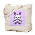 Kawaii Purple Bunny Tote Bag