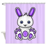Kawaii Purple Bunny Shower Curtain