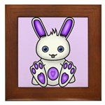 Kawaii Purple Bunny Framed Tile