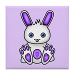Kawaii Purple Bunny Tile Coaster