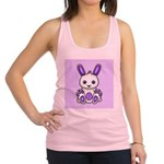 Kawaii Purple Bunny Racerback Tank Top