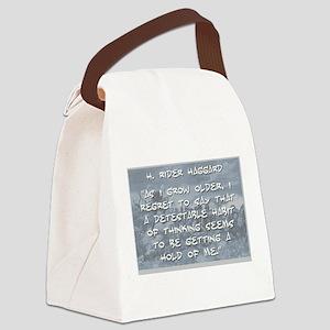 As I Grow Older - Haggard Canvas Lunch Bag