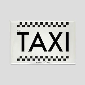 TAXI cab Rectangle Magnet