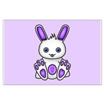 Kawaii Purple Bunny Posters
