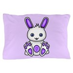 Kawaii Purple Bunny Pillow Case