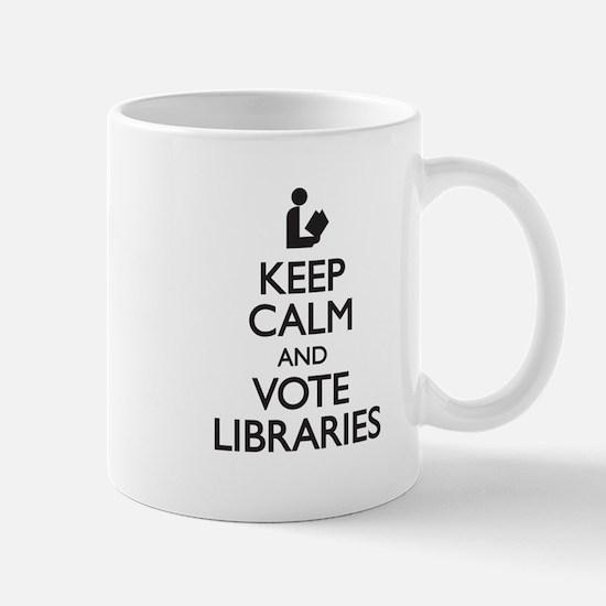 Keep Calm and Vote Libraries Mug