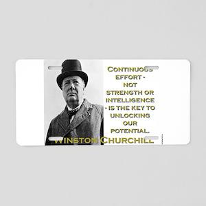 Continuous Effort - Churchill Aluminum License Pla
