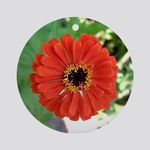 Zinnia Ornament (Round)