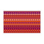 Purple and Orange Stripy Pattern Wall Decal