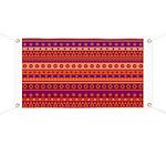 Purple and Orange Stripy Pattern Banner