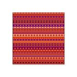 Purple and Orange Stripy Pattern Sticker
