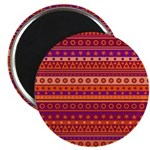 Purple and Orange Stripy Pattern Magnet