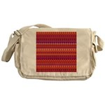Purple and Orange Stripy Pattern Messenger Bag