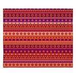 Purple and Orange Stripy Pattern King Duvet