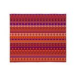 Purple and Orange Stripy Pattern Throw Blanket