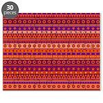 Purple and Orange Stripy Pattern Puzzle