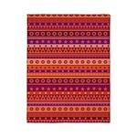 Purple and Orange Stripy Pattern Twin Duvet
