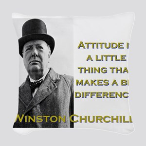 Attitude Is A Little Thing - Churchill Woven Throw