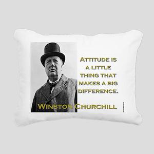 Attitude Is A Little Thing - Churchill Rectangular