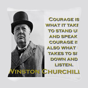 Courage Is What It Takes - Churchill Woven Throw P