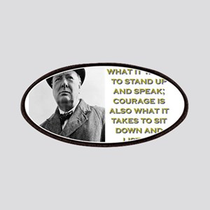 Courage Is What It Takes - Churchill Patch