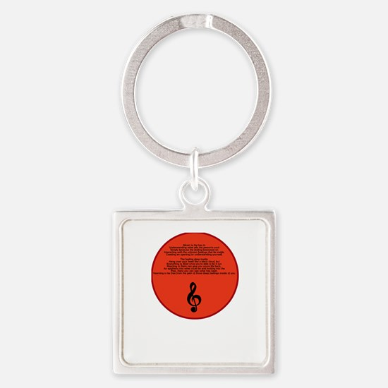 Music Therapy Square Keychain