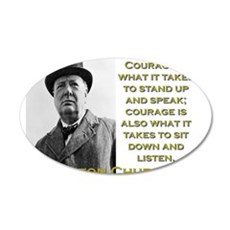 Courage Is What It Takes - Churchill Wall Decal
