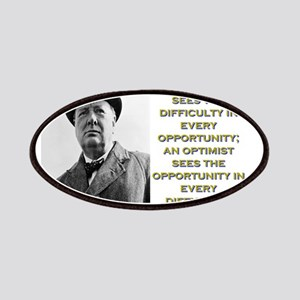 A Pessimist Sees The Difficulty - Churchill Patch