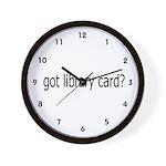 got card? Wall Clock