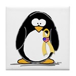 Support Troops Penguin Tile Coaster